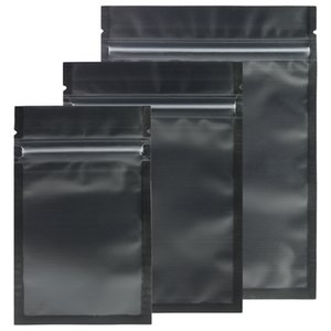 Assorted Sizes Matte Clear Black Black Zip Lock Bags 100pcs PE Plastic Flat Ziplock Package Bag