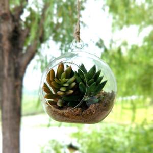 Yaratıcı Asılı Cam Vazo Etli Hava Tesisi Ekran Terrarium, Dekoratif Temizle Cam Küre, Asılı Hava Tesisi Terrarium