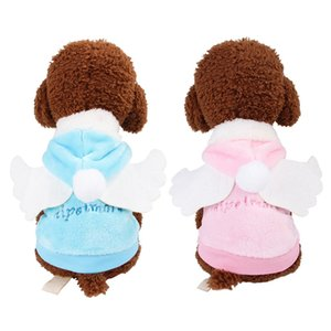 Pet Warm Coat For Autumn And Winter Small Dogs Funny Warm Fashion Accessories Angel Cosplay Costume With Wings