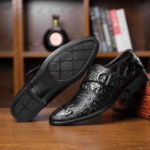 2020 neue Herbst New Large Size Crocodile Geschäfts Breathable Kleid Schuhe koreanische Art und Weise große beiläufige lederne Schuhe Herren