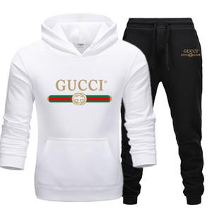 Kazak ayarlar Erkekler Tracksuits 2020 Günlük Kapüşonlular Pantolon Erkek Spor Pantolon Hoody Kazak Erkek Suit Koşu Sweatpant 2 Adet