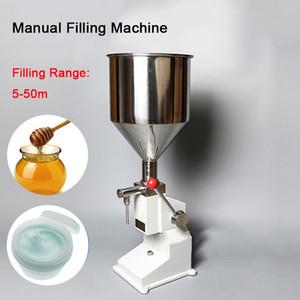 acciaio della pasta manuale della macchina di riempimento di pressione lato 1-50ml erogazione impianti di imballaggio liquido crema olio travaso macchina