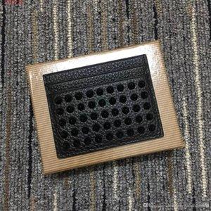 Titulaire de l'étui de luxe Hommes Kios dans une carte doublée en cuir de concepteur avec poche plate Porte-monnaie réelle ID Noir Card Spike Box Nrcta