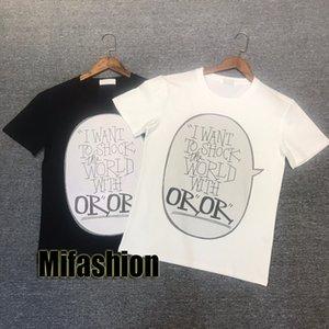 20SS Mode Haute Qualité Luxe Europe France Paris choc dans le monde Hommes Designer T-shirts femmes T rue coton à manches courtes T-shirt