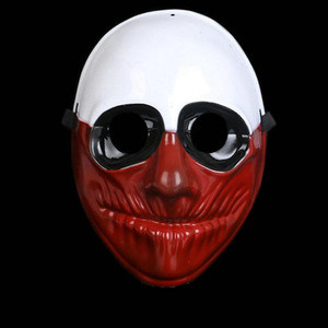 PVC Halloween Clown Mask Electroplating Unisex Mask Cosplay Costume Movie Stars Party Stage Clown Plastic Mask
