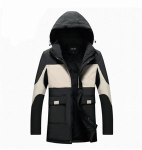 Long Sleeve Loose Coats Winter Mens Designer Thick Down Casual Plus Velvet Hooded Outerwear Mens Panelled