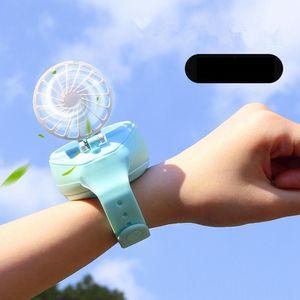 Mini Assista Fan USB Portable Charging Handheld Fan pequeno caçoa o presente Verão ventilador de resfriamento para o Office Travel Home Decor GGA3435-9