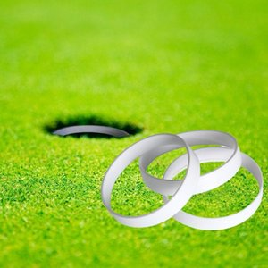 3 Stück / Set Golf Putting Cup Ring Golf Praxis-Loch Ring 11cm Durchmesser Weiß