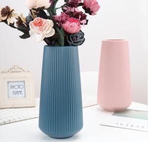 Plastic flower vases decorative flower vase for decor insert artificial flowers for sitting room bedroom office wedding ceremony