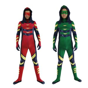 Arrow Oliver Queen Red Arrow Roy Harper Zentai Suit cosplay Costumes Kids Adult men and women Jumpsuit Rompers
