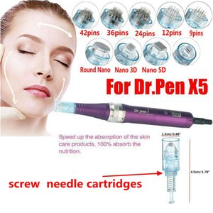 Reemplazar cartucho de aguja Micro Para eléctrica recargable dermapen Auto Derma Pluma Pluma Dr. Ultima X5 Cuidado de la Piel Terapia anti acné