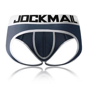 Jockmail Open Backless Enrocha G-Strings Sexy Men Ropa interior Penis Bolsa para hombre Skets Tanga Gay Ropa interior Hombres Bikini Slick Thongs T200517