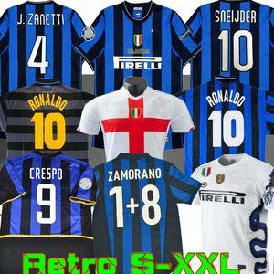 fase final de 2009 2010 MILITO SNEIJDER fútbol ZANETTI Jersey retro Pizarro Fútbol MILAN 1997 1998 97 98 99 Djorkaeff Baggio RONALDO Inter 02 03