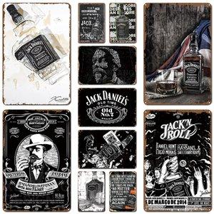 Джек Вино Виски Урожай металла Олово Знак Pub Bar Казино Home Decor Пиво Реклама Тарелка Картина Плакат стены искусства наклейки Бесплатная доставка