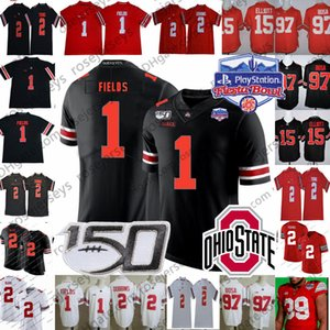 2020 Ohio State Buckeyes Justin Fields Jersey OSU Playoff # 1 #2 Chris Olave Chase genç JK Dobbins # 15 Elliott Nick bosa Teague 150TH