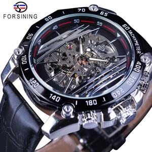 Forsining mécanique Steampunk Série Hommes militaire Montre sport transparent Skeleton Dial Montre Automatique Top Marque de luxe Horloge