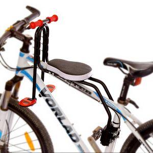 Montaje frontal para sillas de asiento de la bicicleta de montaña niño delante de la bici del asiento niños de la estera de seguridad del bebé sillín Accesorios Carrier