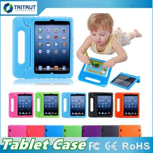 أطفال الأطفال مقبض الوقوف إيفا رغوة لينة للصدمات اللوحي حالة سيليكون القضية ل أبل ipad mini 2 3 4 باد الهواء باد برو 9.7 MQ20