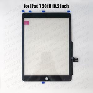 50PCS شاشة تعمل باللمس لوحة زجاجية مع محول الأرقام لباد 7 2019 7th A2197 A2200 A2198 مجانية دي إتش إل
