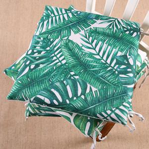 Memory Foam Stuhlkissen Sitzkissen grünes Blatt der tropischen Palm Telopea monstera ceriman 40x40cm Home Decor Ding