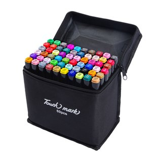 TouchMark 30/40/60/80/168 Colors Mark For draw Dual Head Markers Brush Pen For Draw Manga Animation Painting Art Supplies T200416