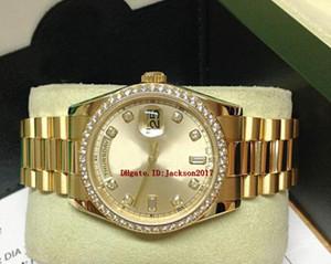 Caja original certificado Relojes para hombres 118348 Oro amarillo Diamante Bisel 36mm Asia 2813 movimiento automático
