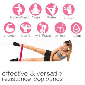 5Levels Naturkautschuk Widerstand-Bänder Fitness Latex Gym Krafttraining Gürtel Loops Bands Fitnessgeräte für Beinübungssätze FFA3893