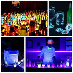 Flasche LED Licht Aufkleber LED Weinflasche Glorifier Mini Licht LED Coaster Cup Mat Party Bar Club Glas Vase Weihnachtsdekoration