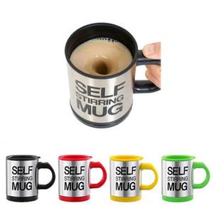 Yeni Self karıştırma Coffee Cup Otomatik Karıştırma kahve Çay fincanı paslanmaz çelik İçme Cup Coffee kupa DHL Ücretsiz