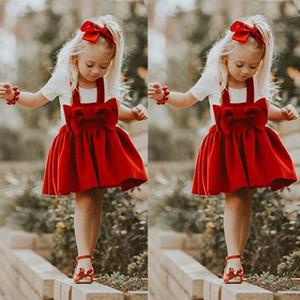 Dropshipping neonata maniche del vestito dal tutu complesso neonata arco rosso nodo principessa abiti vestiti dei bambini vestiti del bambino