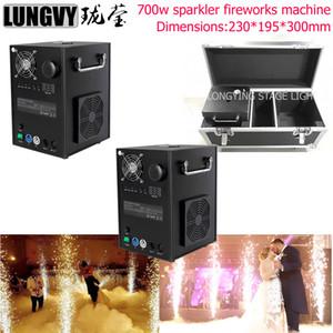 2pcs / много большой 750w Remote Sparklers Cold Fireworks машина Свадьба Sparkular Pyro Fountain Stage Effect Case Flight Dmx Light Show