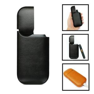 Anti-caída de la PU de cuero protector de la cubierta del caso del bolso bolsa de transporte para la caja de la bolsa IQOS 2.4 Plus universal porciones calientes