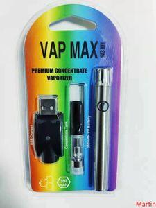 Vap Max W3 Kit 350mAh Vertex Разогреть батареи В. Переменный Напряжение 510 Подогрев Vape 0.5ml 1мл Картридж Fit Испаритель DHL
