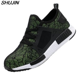 SHUJIN Men Shoes Structible Ryder Shoes Men And Women Steel Toe Air Safety Boots Puncture-Proof Work Sneakers Breathable Shoes