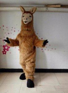 2019 Fabrik heiße Halloween-Lama-Maskottchen-Kostüm-Qualitäts-Karikatur Brown Camel Anime Thema Charakter Weihnachten Karneval Partei-Kostüme