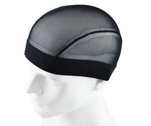 Купол стиль сетки парик Cap черный растягивающийся ткацкие шапки эластичный нейлон сетка для изготовления париков бесклеевой сетчатый вкладыш 3 размера для выбора