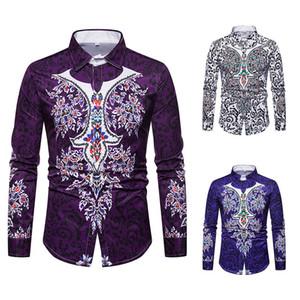 Mode Chemise Hommes Automne Chemises Nouvelles Marques Manches Longues Chemise Décontractée Paisley Imprimé Vintage Nouveau Design Homme Vêtements Livraison Gratuite