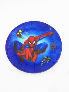 10PCS / LOT SPIDERMAN أطباق لوحات SPIDERMAN KIDS BIRTHDAY PARTY الحسنات HAPPY BIRTHDAY PARTY SUPPLIES SPIDER MAN PAPER وحة أخرى حدث P