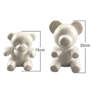 1PC 15 cm / 20 cm de poliestireno espuma de poliestireno Rose de la espuma del molde del oso de la espuma de la bola DIY para el regalo artificial del oso de la flor de Rose