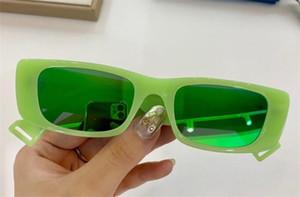 0516 Yeşil / Yeşil Yansıtmalı Güneş Kare Kare Güneş Gafas de sol kutusu ile yeni unisex da sole Occhiali