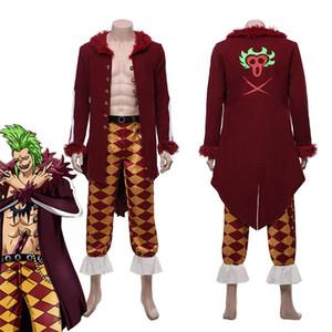 One Piece:Pirate Warriors 4 Bartolomeo Cosplay Costume Halloween Carnival Costumes