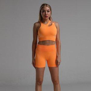 Vital Seamless Sport Suit Gym Clothes 2pcs Set Women Short Sleeve Yoga Set Fitness Crop Top Shirt High Waist Shorts Sportswear