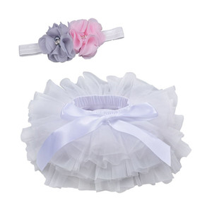 Baby Girls Tutu Jupe Bow Gaze Jupes avec bandeau PP Shorts Jupe Enfants Casual layette bébé princesse Jupes 0-3T 07