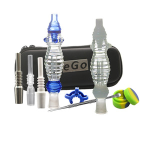 Titanium Tip 10mm 14mm Joint Ceramic Tip Quartz Nails Concentrate Dab Rig Glass Bong With Ego Bag