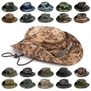 3 adetKlasik Abd Savaş Ordu Tarzı Gi Boonie Bush Orman Güneş Balıkçılık Kap Erkekler kadın Pamuk Yırtılmaz Kamuflaj Askeri Kova Şapka C19041201