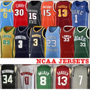 NCAA ليبرون جيمس ديفيس دواين واد جيرسي Kemba جانيس ووكر الكرة Antetokounmpo 2 Lonzo راسيل ويستبروك جيمس هاردن كرة السلة جيرسي