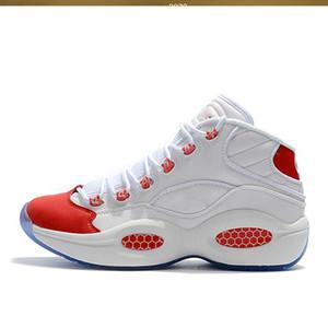 HOT Аллен Айверсон Ответ 1s Увеличить MENS работает спортивную обувь класса люкс Elite Sport Sneakers Вопрос Mid Q1 баскетбольные ботинки