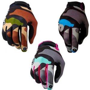 2019 Luvas Hot Sete Mountain Bike equitação as luvas -road Motorcycle Racing Gloves longos dedos