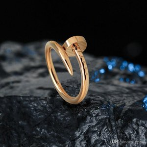 Couple fashion copper nail ring designer engagement men's casual jewelry creative hip hop ring birthday gift