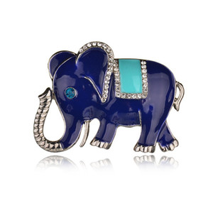 NEW Silver Plated Elephant Brooch Pins Rhinestone Brooches For Women Jewelry Fashion Suit Accessories b235